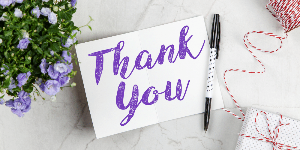 Showing gratitude by writing a thank you note can help you relieve holiday stress.