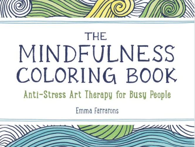 Coloring books can help relieve holiday stress.