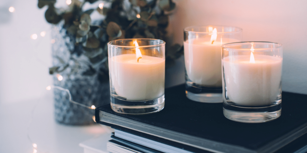 Another way to relieve holiday stress is by relaxing and lighting a nice candle.