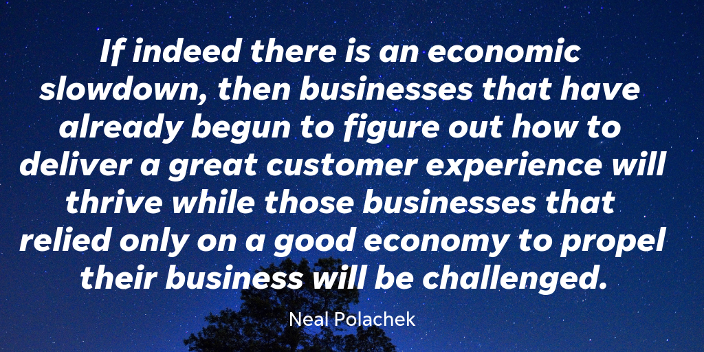 ThinkLikeAnApp founder Neal Polachek believes that focusing on customers is the way to weather economic change.
