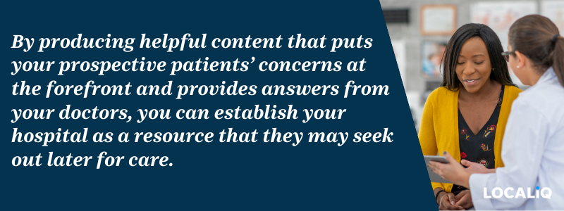 Hospital Marketing Tip - LOCALiQ