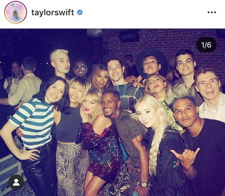 Picture from Taylor Swift's instagram account that is not part of the Instagram aesthetic.