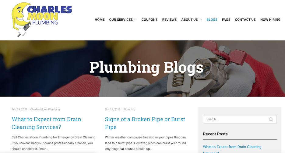 boost authority for your website - plumbing blog