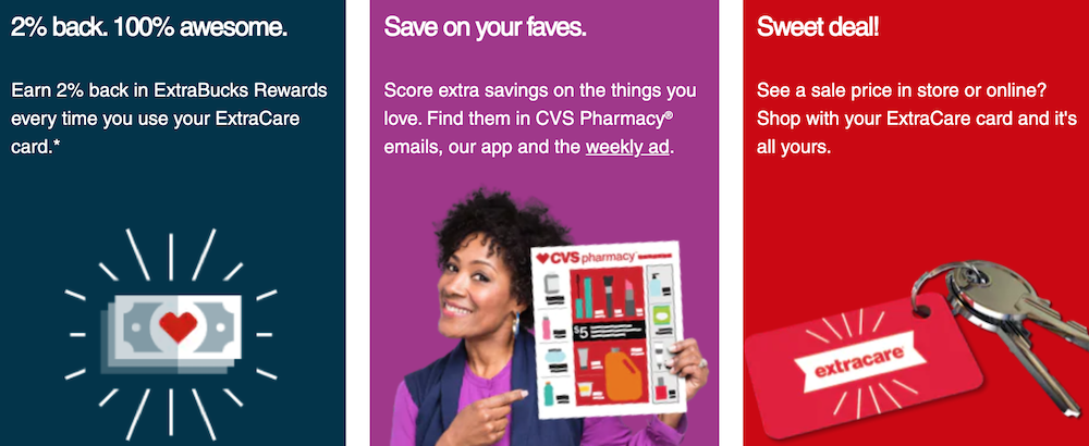 CVS ExtraCare customer loyalty program lets you start taking advantage right away.