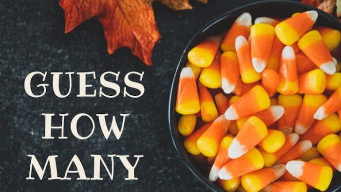 You can run a guess-how-many contest for your halloween promotion to get people to engage with you on social or come to your location.