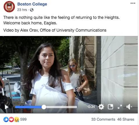 This school is sharing a video tour of campus as part of their higher education marketing