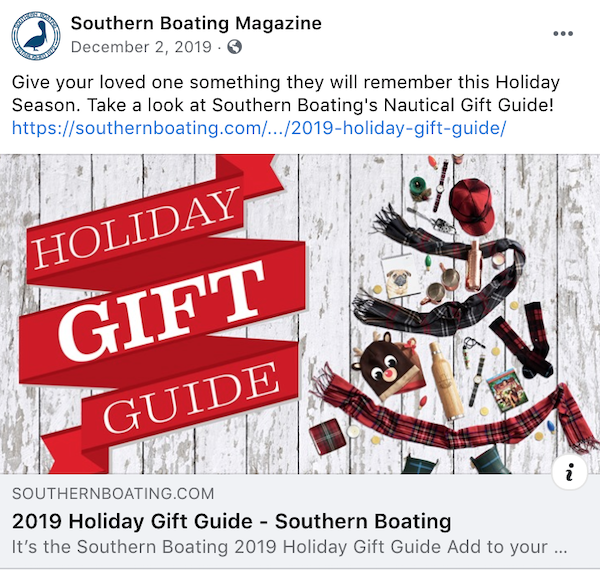 Make sure to socialize your holiday gift guide.