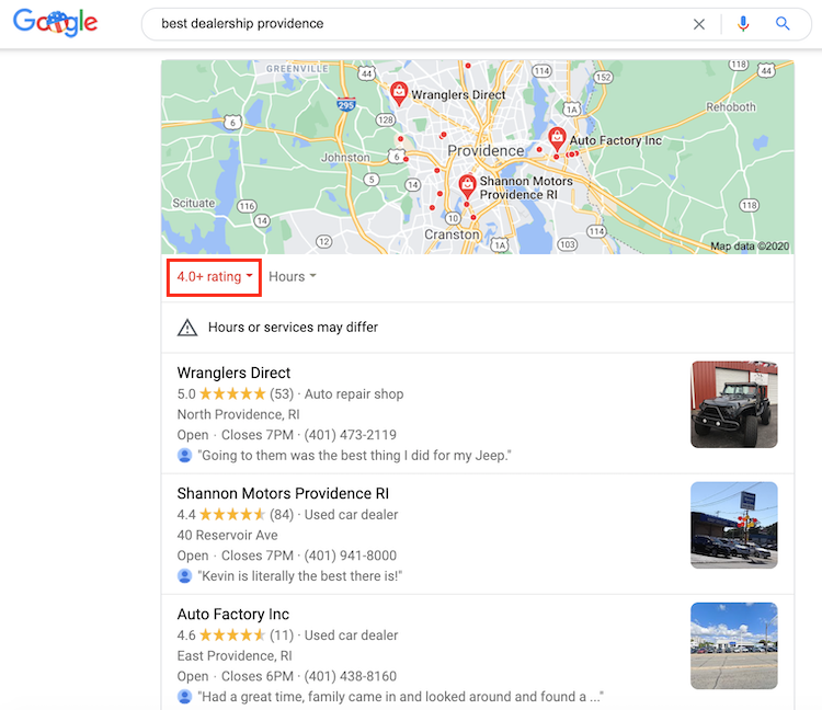 Getting new Google reviews is important for your car dealer marketing because it helps car buyers see how you care about your customers.