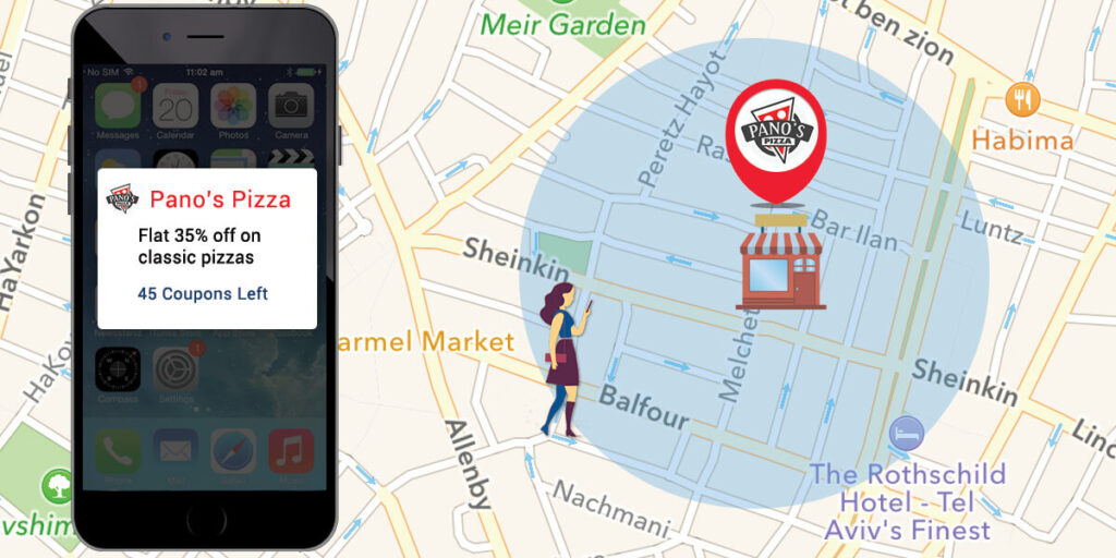Geofencing lets you target people who enter a specific area with their smartphones.