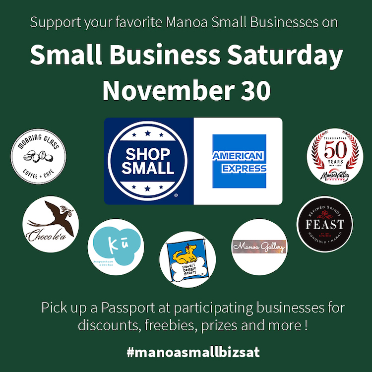 Think about how you can partner with other local businesses on small business saturday as part of your marketing.