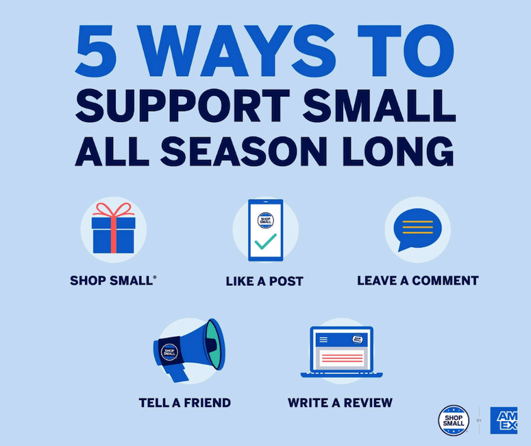 American Express has shared five ways you can keep supporting small businesses even after small business saturday is over.
