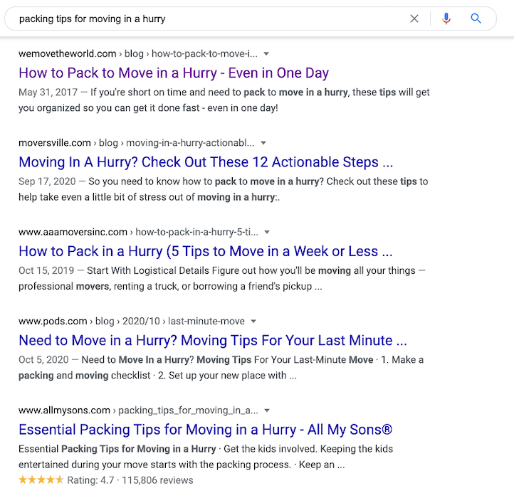 Benefits of content marketing - helps you show in up serps for relevant searches when your competitors might not.