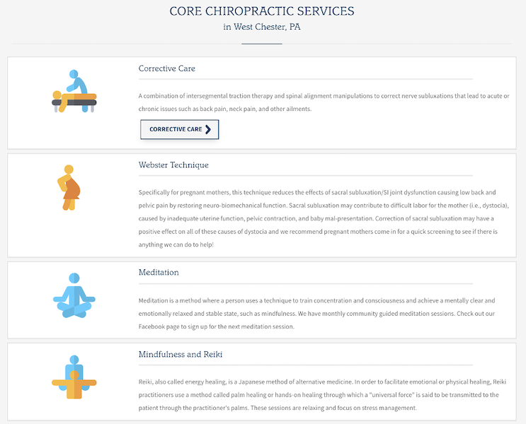 chirporactor seo - chiropractic services