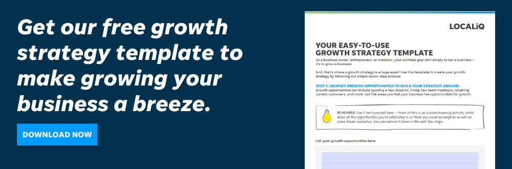 Use this free growth strategy template to make planning for growth simple.