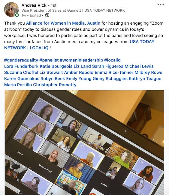 digital media sales - zoom meeting - women in media