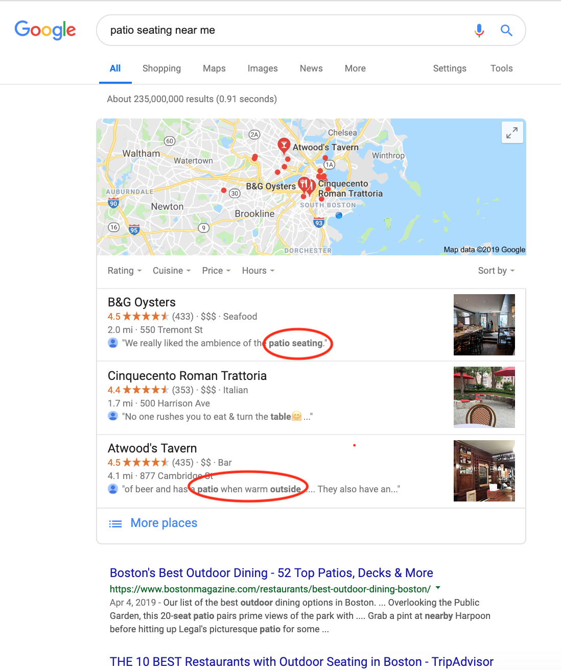 how to get free advertising on google attributes in reviews