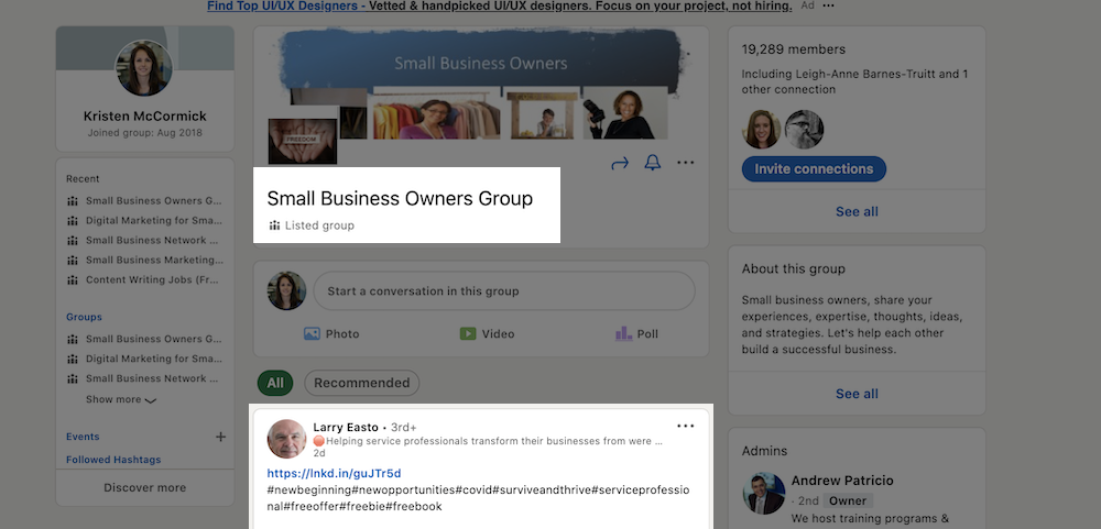 how to get free advertising on google social media groups
