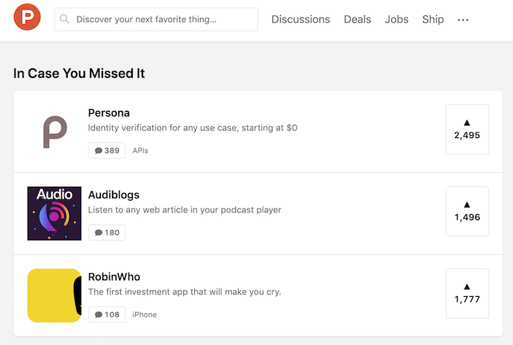 how to market an app - show up on product hunt
