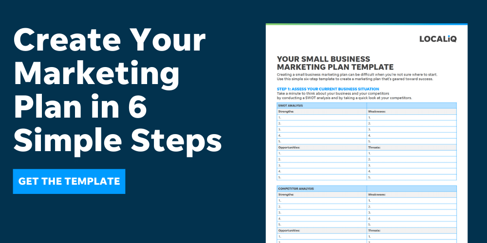 localiq - create your small business marketing plan - template download