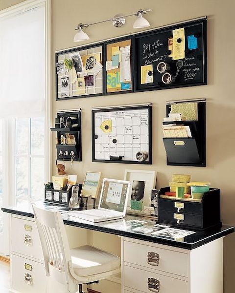 overwhelmed business owner - organized workspace