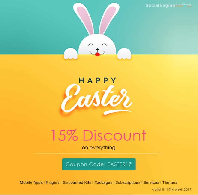 easter promotions and marketing ideas - easter discount