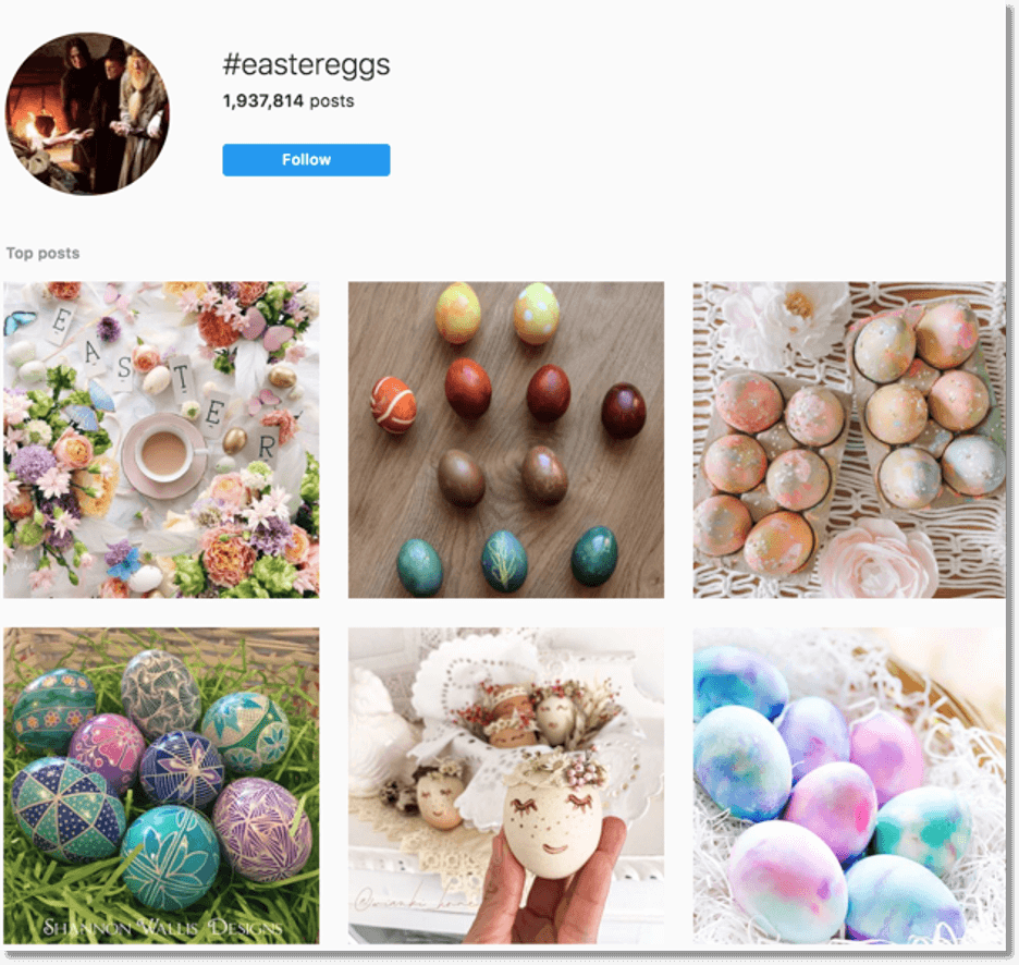 easter promotions and marketing ideas - easter egg decorating hashtag