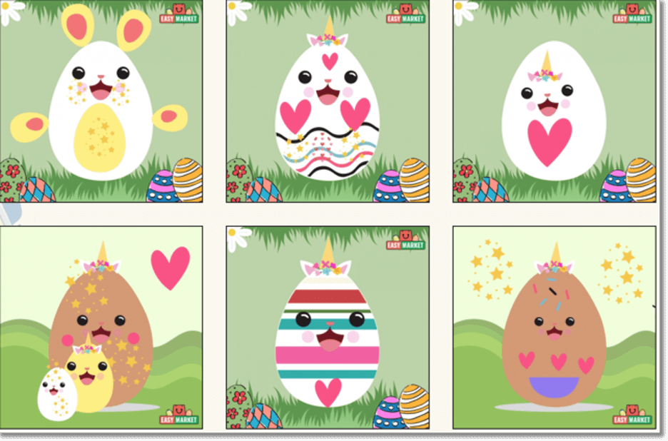 easter promotions and marketing ideas - virtual easter egg decorating