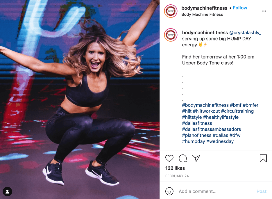 how to use hashtags - fitness hashtag ideas