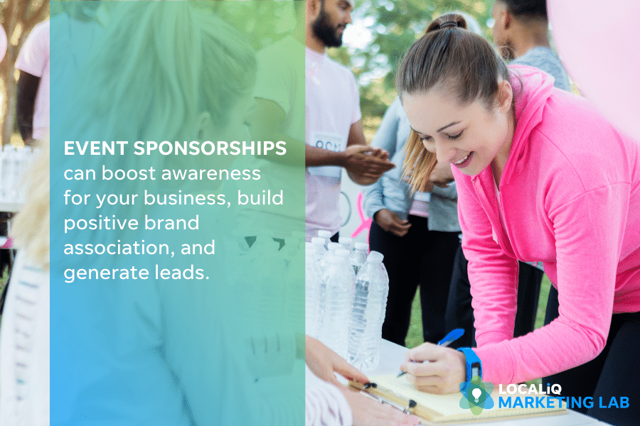local marketing - event sponsorships