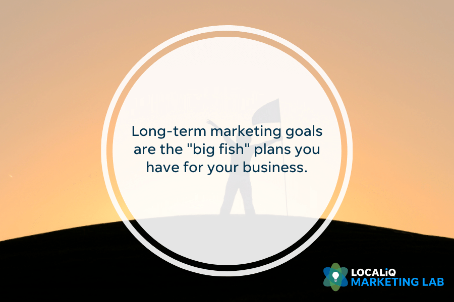 local marketing - long-term marketing goals