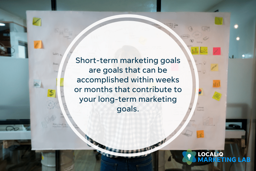 local marketing - short-term marketing goals