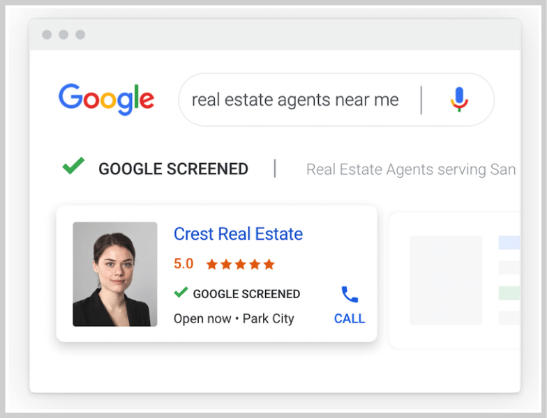 local ppc - local services ads - google screened