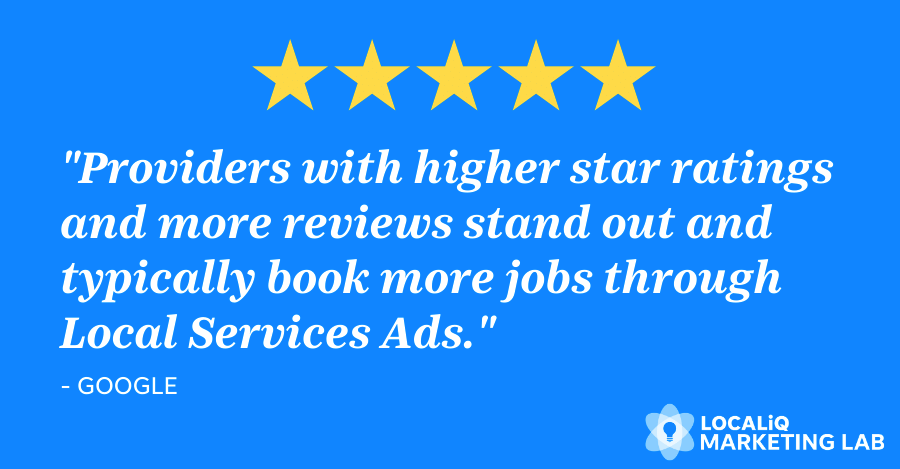 local ppc strategy - local services ads - reviews