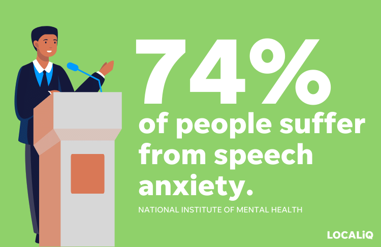 professional development opportunities - speech anxiety stat