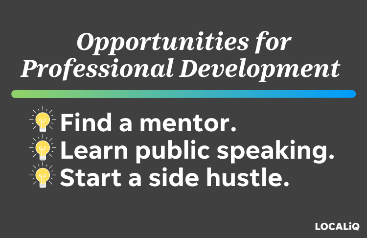 professional development opportunities to try