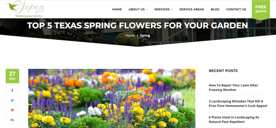 spring home service marketing tips - share what's in season