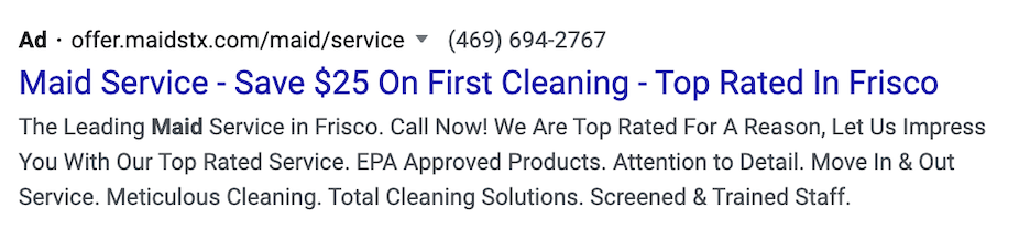 spring home services marketing ideas - spring cleaning discount