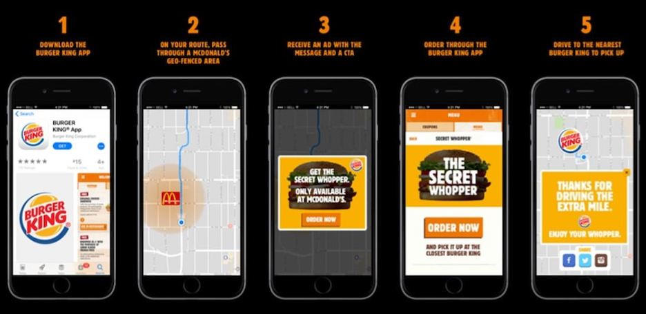 what is geofencing - example of geofenced ad