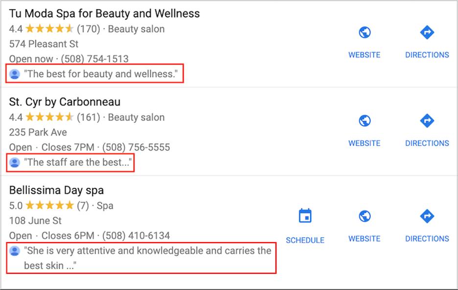 google maps marketing - get google reviews