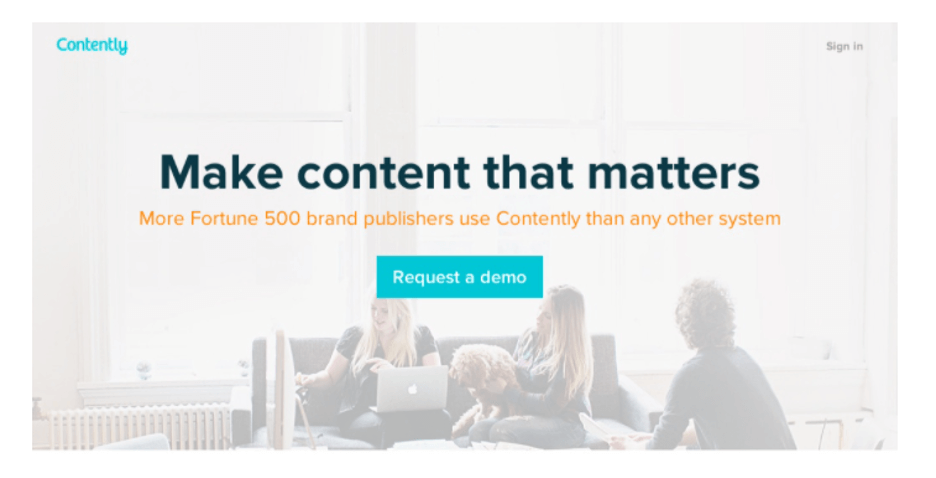 landing page example - CTA button