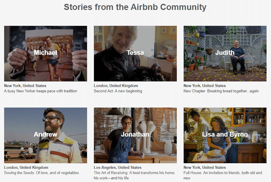 local seo checklist - local content marketing - airbnb