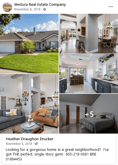 real estate facebook ads - invest in high-quality images