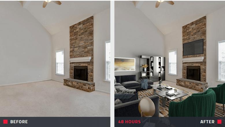 real estate facebook ads - virtual staging