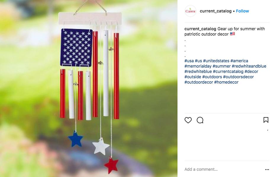 memorial day social media ideas - current catalog