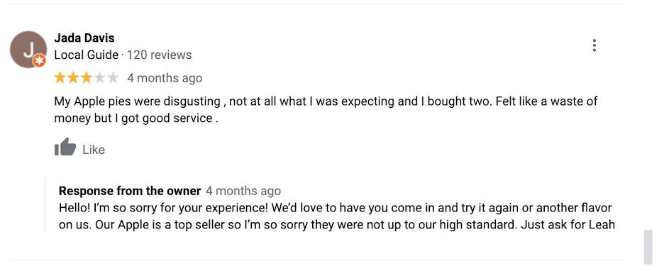 happy customer idea - respond to reviews