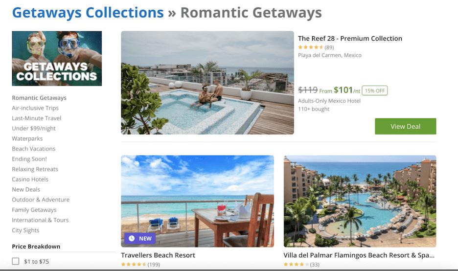 hospitality marketing 2021 - romantic getaways