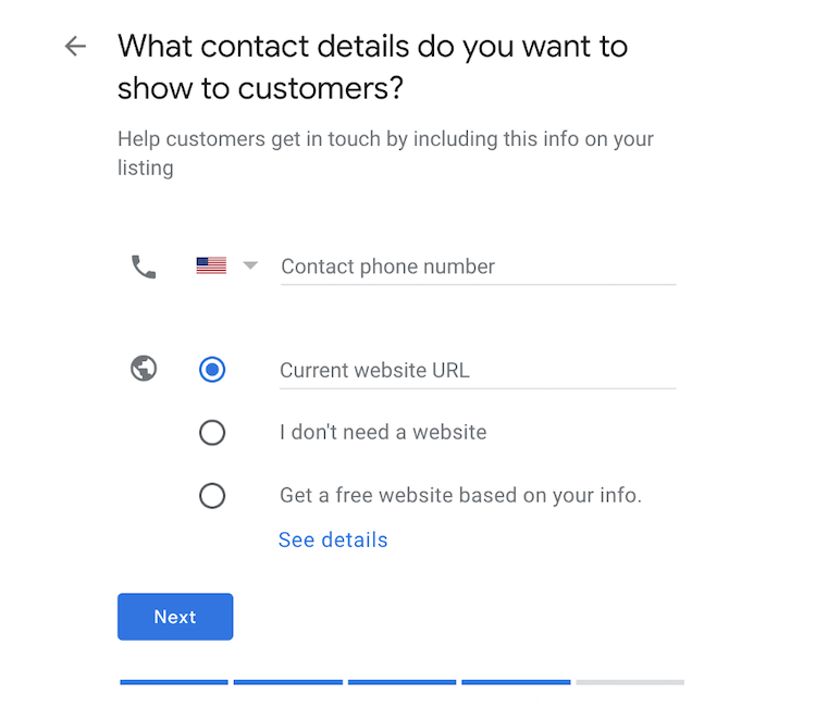 how to claim a business on google - add your business details