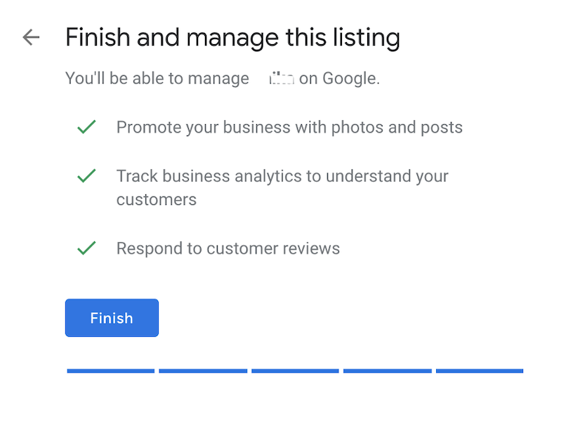 how to claim a business on google - finish setting up listing
