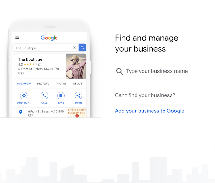 how to claim a business on google - search for account