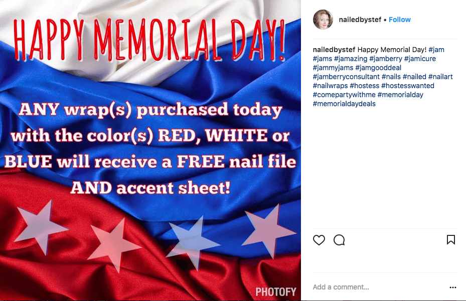 memorial day marketing ideas - nails-by-stef